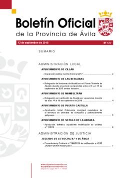 Boletín Oficial de la Provincia del miércoles, 12 de septiembre de 2018