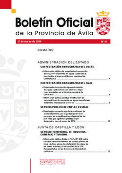 Boletín Oficial de la Provincia del martes, 13 de marzo de 2018