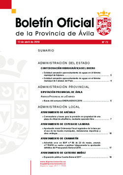 Boletín Oficial de la Provincia del viernes, 13 de abril de 2018