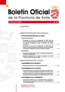 Boletín Oficial de la Provincia del miércoles, 13 de junio de 2018