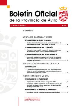 Boletín Oficial de la Provincia del miércoles, 14 de marzo de 2018
