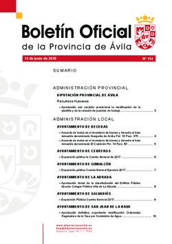 Boletín Oficial de la Provincia del jueves, 14 de junio de 2018