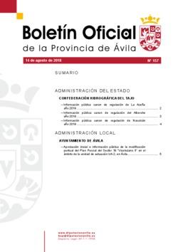 Boletín Oficial de la Provincia del martes, 14 de agosto de 2018