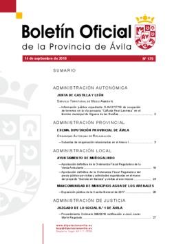 Boletín Oficial de la Provincia del viernes, 14 de septiembre de 2018