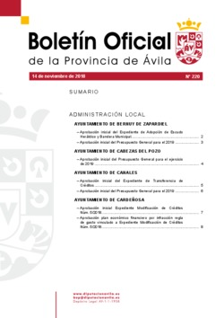 Boletín Oficial de la Provincia del miércoles, 14 de noviembre de 2018