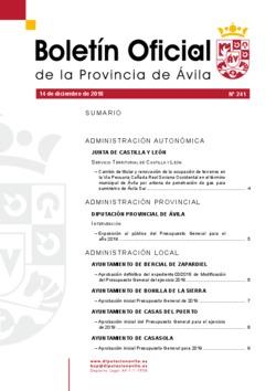 Boletín Oficial de la Provincia del viernes, 14 de diciembre de 2018