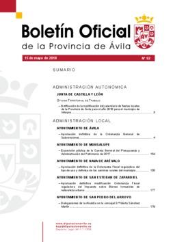 Boletín Oficial de la Provincia del martes, 15 de mayo de 2018