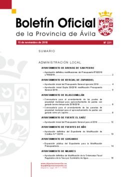 Boletí Oficial de la Provincia del 15-11-2018