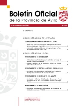 Boletín Oficial de la Provincia del viernes, 16 de noviembre de 2018