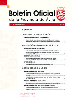 Boletín Oficial de la Provincia del miércoles, 17 de enero de 2018