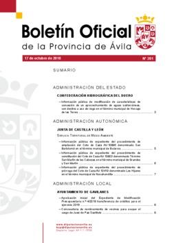 Boletín Oficial de la Provincia del miércoles, 17 de octubre de 2018
