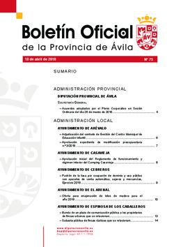 Boletín Oficial de la Provincia del miércoles, 18 de abril de 2018