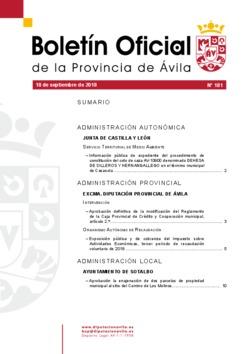 Boletí Oficial de la Provincia del 18-09-2018