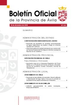 Boletín Oficial de la Provincia del martes, 18 de diciembre de 2018