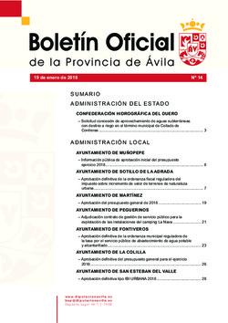 Boletín Oficial de la Provincia del viernes, 19 de enero de 2018