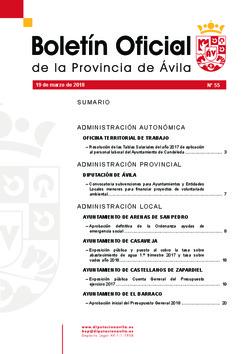 Boletín Oficial de la Provincia del lunes, 19 de marzo de 2018