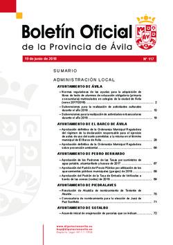Boletín Oficial de la Provincia del martes, 19 de junio de 2018