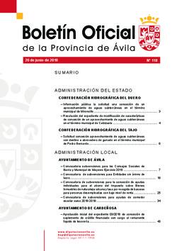 Boletín Oficial de la Provincia del miércoles, 20 de junio de 2018
