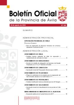 Boletín Oficial de la Provincia del lunes, 20 de agosto de 2018