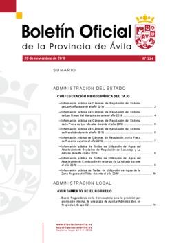 Boletín Oficial de la Provincia del martes, 20 de noviembre de 2018