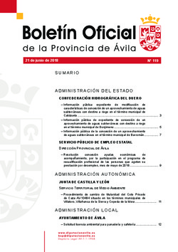 Boletín Oficial de la Provincia del jueves, 21 de junio de 2018