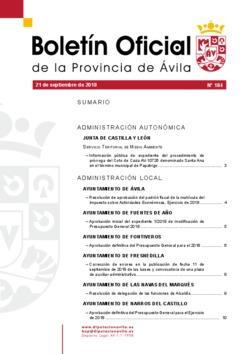 Boletí Oficial de la Provincia del 21-09-2018