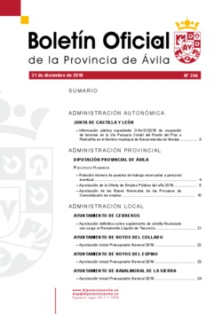 Boletín Oficial de la Provincia del viernes, 21 de diciembre de 2018