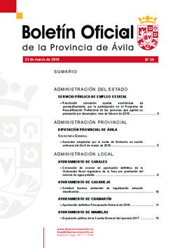 Boletín Oficial de la Provincia del martes, 27 de marzo de 2018