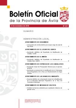 Boletín Oficial de la Provincia del viernes, 23 de noviembre de 2018