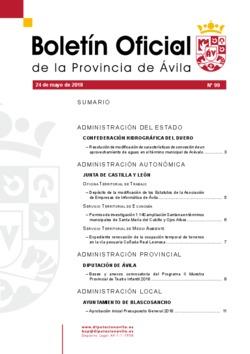 Boletín Oficial de la Provincia del jueves, 24 de mayo de 2018