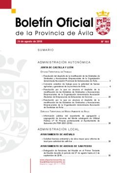 Boletín Oficial de la Provincia del viernes, 24 de agosto de 2018