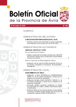 Boletín Oficial de la Provincia del viernes, 25 de mayo de 2018