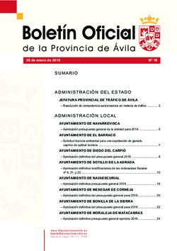 Boletín Oficial de la Provincia del viernes, 26 de enero de 2018