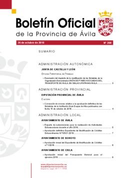Boletín Oficial de la Provincia del viernes, 26 de octubre de 2018