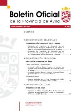 Boletín Oficial de la Provincia del lunes, 26 de noviembre de 2018