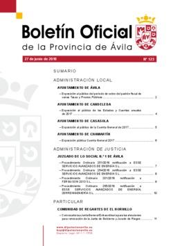 Boletín Oficial de la Provincia del miércoles, 27 de junio de 2018