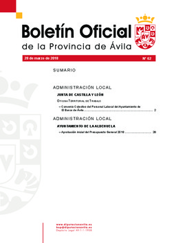 Boletín Oficial de la Provincia del miércoles, 28 de marzo de 2018