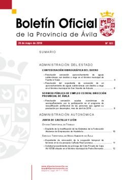 Boletín Oficial de la Provincia del lunes, 28 de mayo de 2018
