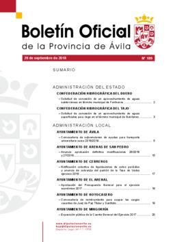 Boletín Oficial de la Provincia del viernes, 28 de septiembre de 2018