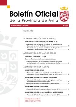 Boletín Oficial de la Provincia del viernes, 28 de diciembre de 2018