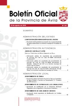 Boletín Oficial de la Provincia del miércoles, 29 de agosto de 2018