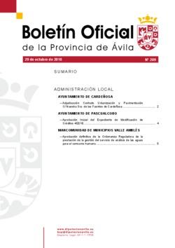 Boletín Oficial de la Provincia del lunes, 29 de octubre de 2018