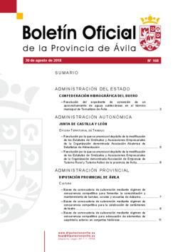Boletín Oficial de la Provincia del jueves, 30 de agosto de 2018