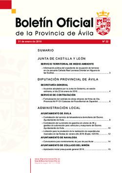 Boletín Oficial de la Provincia del miércoles, 31 de enero de 2018