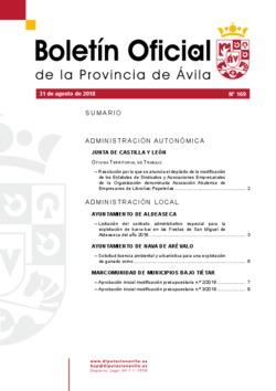 Boletín Oficial de la Provincia del viernes, 31 de agosto de 2018