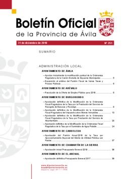 Boletín Oficial de la Provincia del lunes, 31 de diciembre de 2018