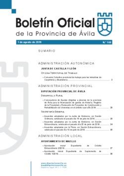 Boletín Oficial de la Provincia del jueves, 1 de agosto de 2019