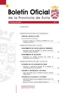 Boletín Oficial de la Provincia del jueves, 3 de enero de 2019