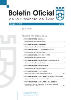 Boletín Oficial de la Provincia del miércoles, 3 de julio de 2019