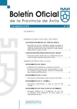 Boletín Oficial de la Provincia del martes, 3 de septiembre de 2019